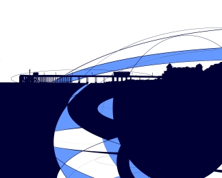 """Penarth Pier"" screen-print"