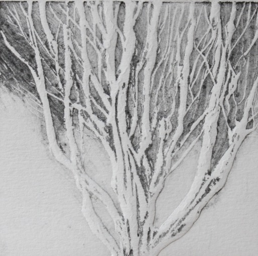 """Winter"" Paper emboss / graphite"