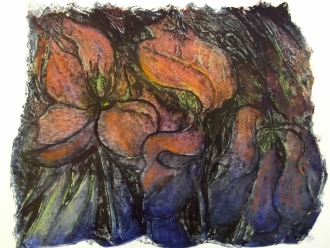 """""""Flowers"""" collograph"""